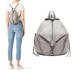 Rebecca Minkoff Julian Small Gray Leather Backpack
